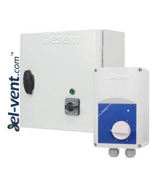 Transformatoriniai ventiliatorių greičio reguliatoriai ESTR, IP54, 230 V, 0.8-20 A, 5 pakopų