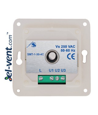 Three step fan speed controller SMT-1-30-4C 3.0 A IP44/54 - connection terminals