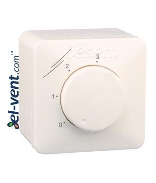 Ventiliatoriaus trijų pakopų greičio perjungėjas SMT-1-30-4C 3.0 A IP44/54
