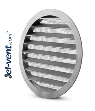 Aluminum ventilation grille AG125, Ø125 mm