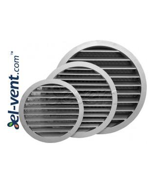 Aluminum ventilation grille AG ALU - Ø250-315-400 mm