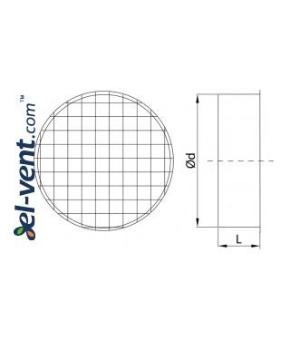 Вентиляционная сетка GLT - чертеж