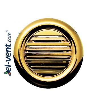 Door grilles GRT71MZ metallized gold (2 pcs.), Ø40/55 mm