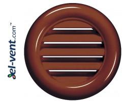 Vent grilles GRT71BR brown (2 pcs.), Ø40/55 mm