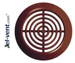 Vent grilles GRT72BR brown (2 vnt.), Ø45/52 mm