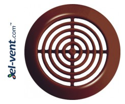 Door grilles GRT73BR brown (2 pcs.), Ø45/58 mm