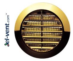Door grille GRT74MZ metallized gold, Ø60/80 mm