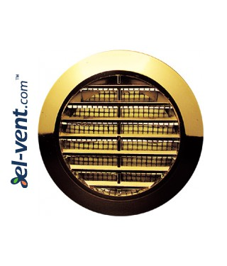 Door grille GRT74MZ metallized gold, Ø60/80 mm