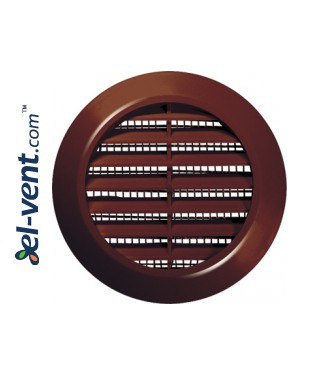 Door grille GRT74BR brown, Ø60/80 mm