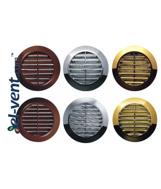 Door grille GRT74MZ metallized gold, Ø60/80 mm - image