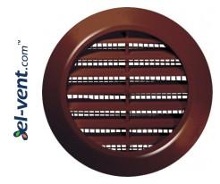 Vent grilles GRT74BR brown, Ø60/80 mm
