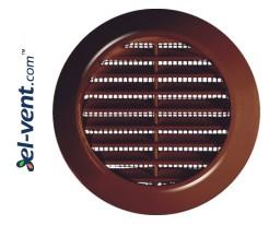Door grille GRT75BR brown, Ø70/95 mm