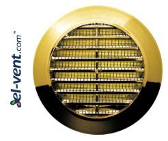 Grotelės durims GRT75MZ metalizuotas auksas, Ø70/95 mm
