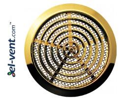 Door grilles GRT76MZ metallized gold, Ø80/92 mm