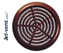 Door grilles GRT76BR brown, Ø80/92 mm
