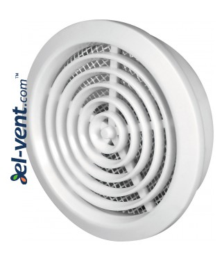 Air vent cover GRT76, Ø80/92 mm - white