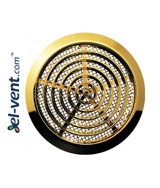 Air vent cover GRT76, Ø80/92 mm - metalized gold