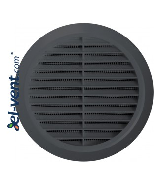 Grey colour ventilation grille GRT30GR, Ø100 mm