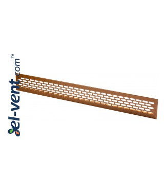 Aluminum ventilation grille MR1BR, 480x60 mm