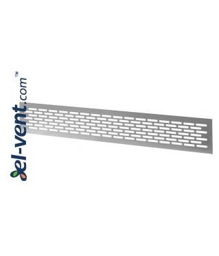 Алюминиевая вентиляционная решетка MR2AL, 480x80 мм - AL, алюминий