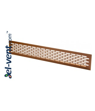Алюминиевая вентиляционная решетка MR2AL, 480x80 мм - BR, алюминий в коричневой окраской