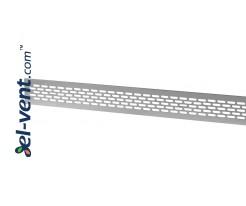 Aluminum ventilation grille MR1AL, 480x60 mm