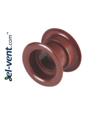 Ventiliacinės grotelės durims GRT14, 2 vnt., 40x55 mm - raudonmedis