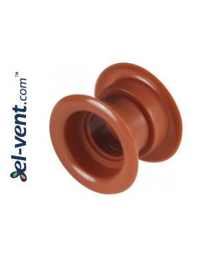 Door ventilation grille GRT14, 2 pcs., 40x55 mm - rosy brown