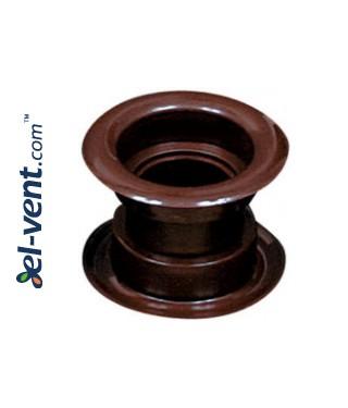 Door ventilation grille GRT14, 2 pcs., 40x55 mm - brown