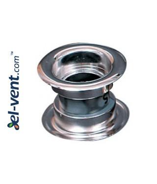 Door ventilation grille GRT14, 2 pcs., 40x55 mm - metallized silver