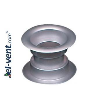 Ventiliacinės grotelės durims GRT14, 2 vnt., 40x55 mm - metalizuotas sidabrinis satinas