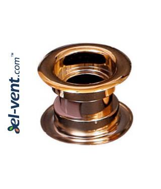 Ventiliacinės grotelės durims GRT14, 2 vnt., 40x55 mm - metalizuotas auksas