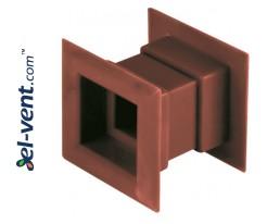 Ventiliacinės grotelės durims GRTD14 Ø40/45x45 mm, 2 vnt.