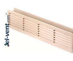Ventiliacinės grotelės durims GRT15K113, 2 vnt., 135x460 mm (klevas)