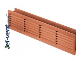 Ventiliacinės grotelės durims GRT15K110, 2 vnt., 135x460 mm (ąžuolas)