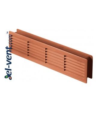 Door grilles GRT15K110, 2 pcs., 135x460 mm (oak)