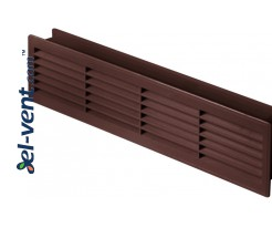 Ventiliacinės grotelės durims GRT15K50, 2 vnt., 135x460 mm (ruda)