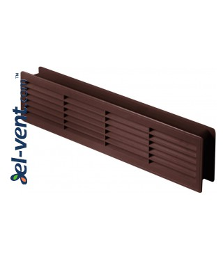 Door grilles GRT15K50, 2 pcs., 135x460 mm (brown)