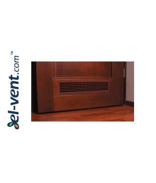 Door grilles GRT15K113, 2 pcs., 135x460 mm (maple) - Mounting example