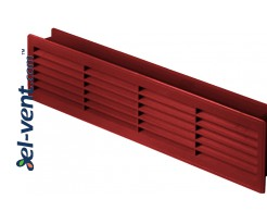 Door grilles GRT15K112, 2 pcs., 135x460 mm (cherry-tree)