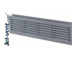 Door grilles GRT15SZ, 2 pcs., 135x460 mm (grey)