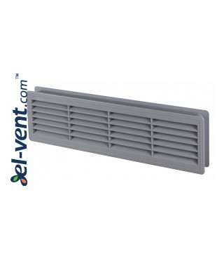 Door grilles GRT15SZ, 2 pcs., 135x460 mm (grey)