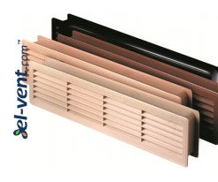 Door louver kit GRT15, 2 pcs., 135x460 mm