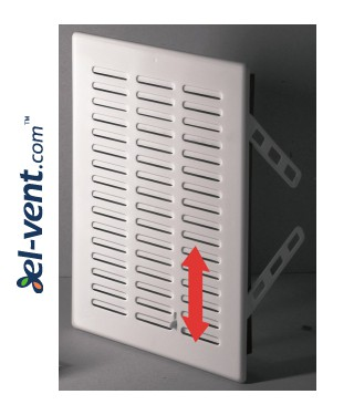 Vent cover with shutter GRT06, 165x235 mm - image