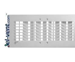 Ventilation grille with shutter GRT20, 140x300 mm