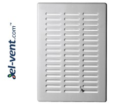 Ventilation grille with shutter GRT06, 165x235 mm