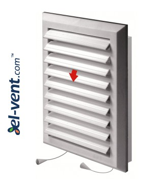Ventilation grille with shutter GRT41, 175x235 mm