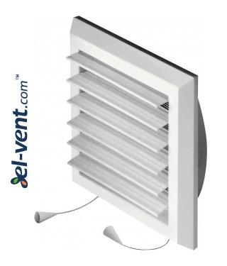Вентиляционная решетка с заслонкой GRT78, 175x175 мм, Ø125 мм