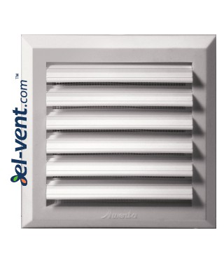 Ventilation grille with shutter GRT78, 175x175 mm, Ø125 mm - image
