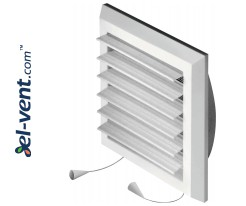 Adjustable plastic grilles